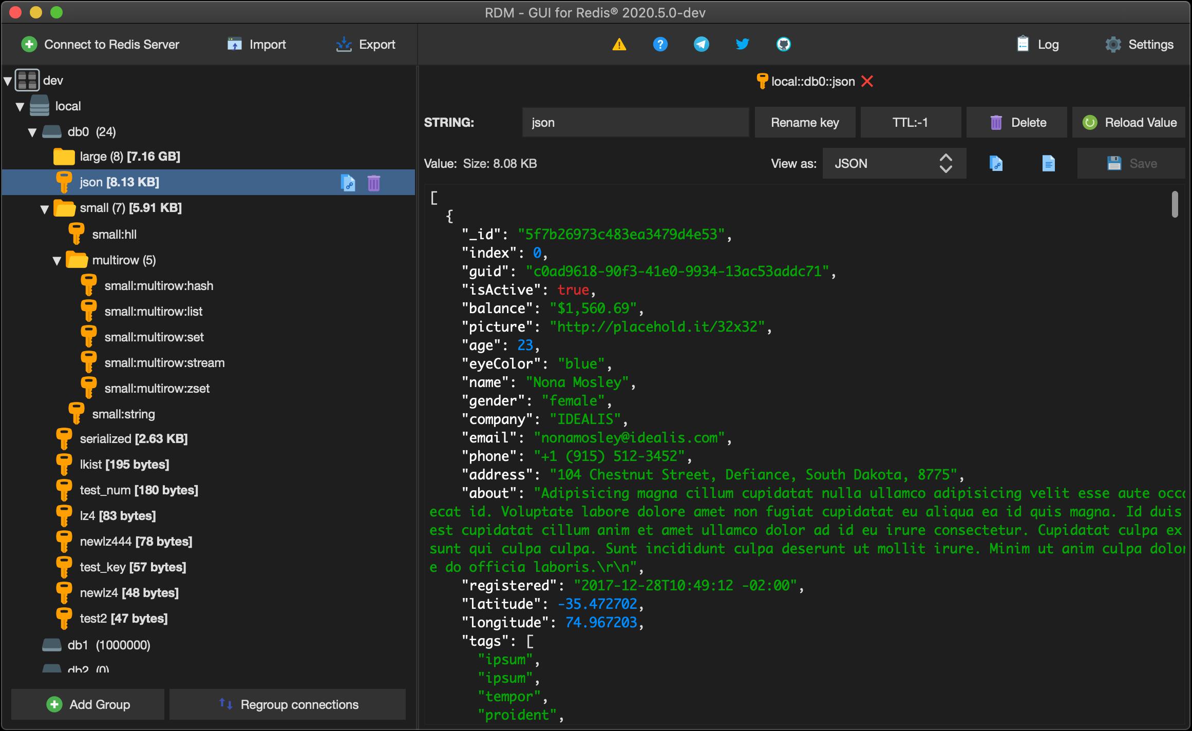 Redis Desktop Manager - Redis GUI management tool for
