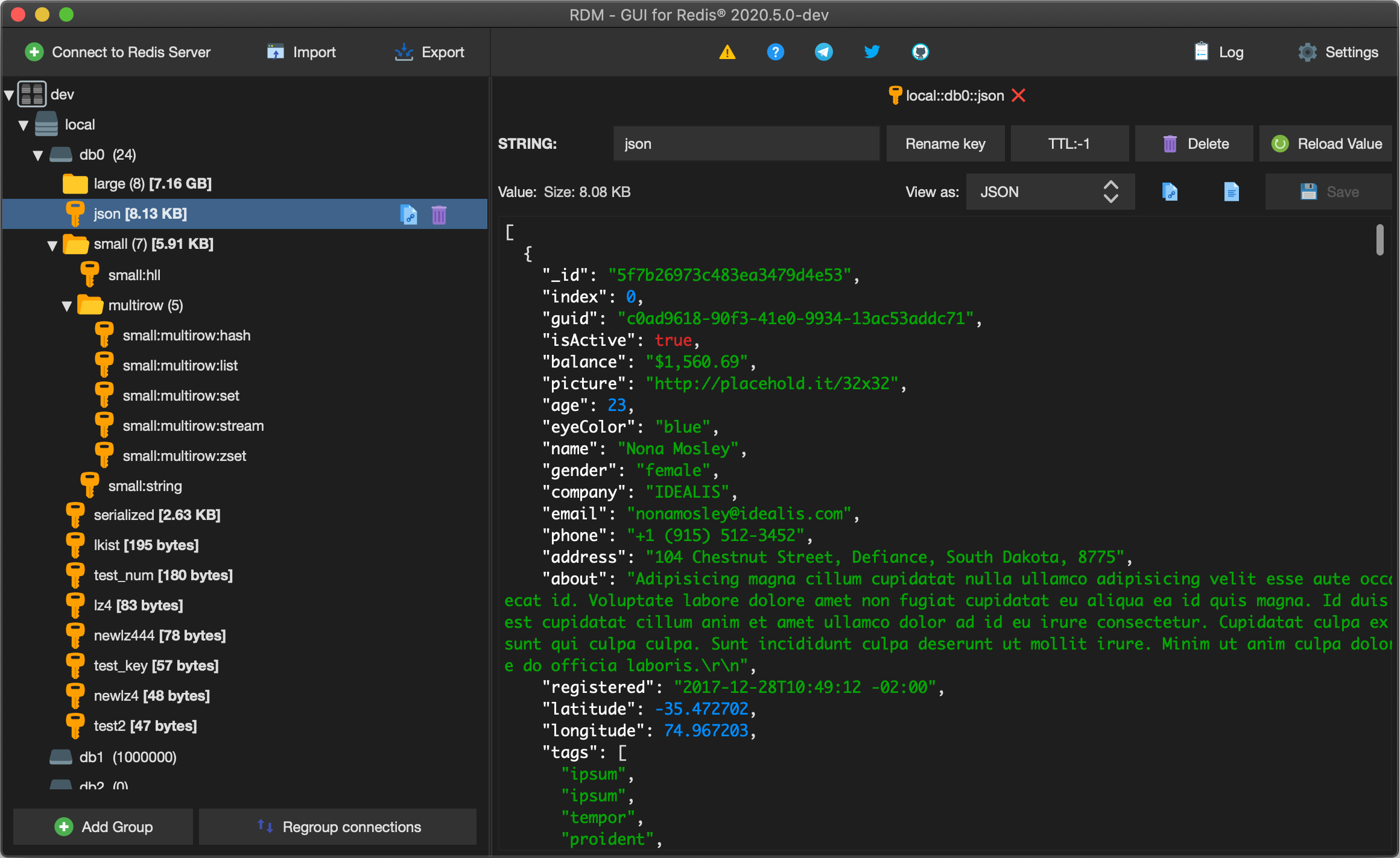 Redis Desktop Manager screenshoot